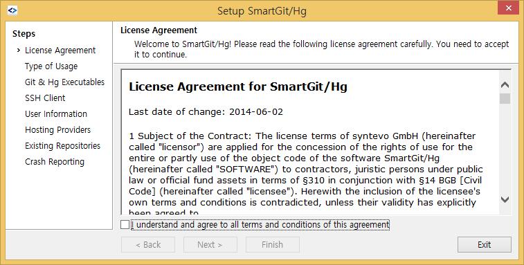 강좌와 팁 - [GIT] Git GUI tool 소개 - SmartGit/Hg 설치 및 설정